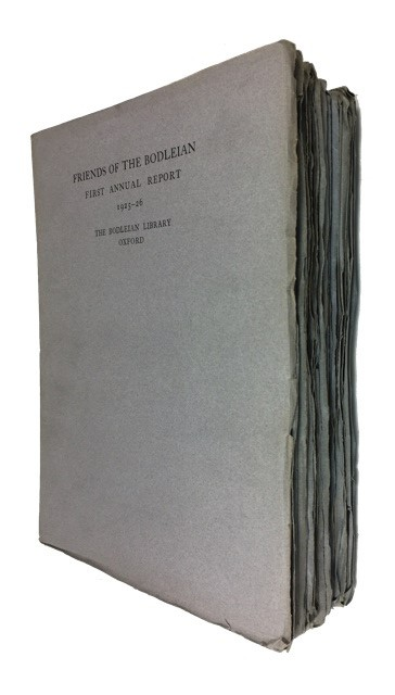 Annual Report[s]. A Collection of the First Twenty (1925-6 to 1944-5). Friends of the Bodleian.