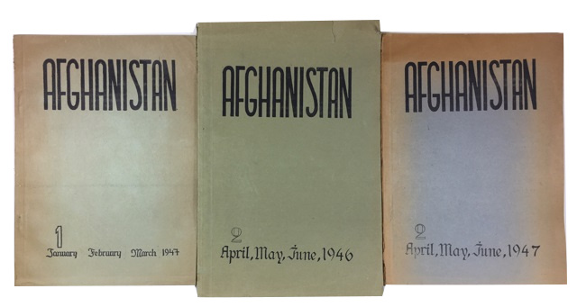 Afghanistan. Three issues: Vol. 1, No. 2 (April-June, 1946) and Vol. 2, Nos. 1 & 2 (Jan-March & April-June, 1947)