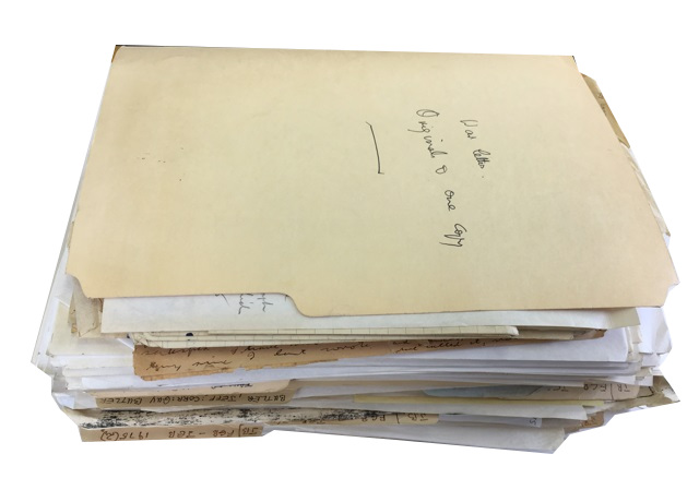 Archive of Letters and Other Materials. Guy Butler, Jeffrey Butler.