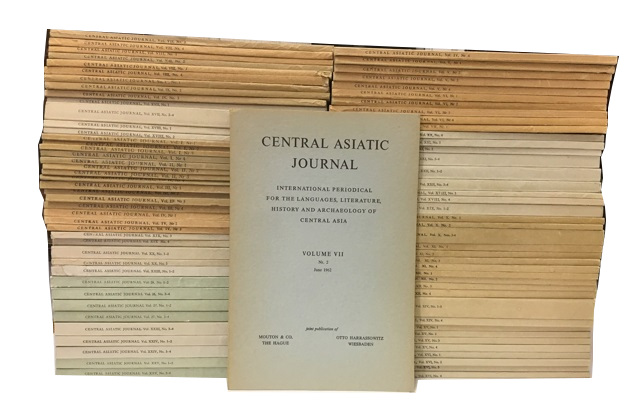 Central Asiatic Journal: International Periodical for the Languages, Literature, History and Archaeology of Central Asia. Vols. 1-27 (lacking only Vol. 9, No. 4 and Vol. 13, Nos. 1-4)