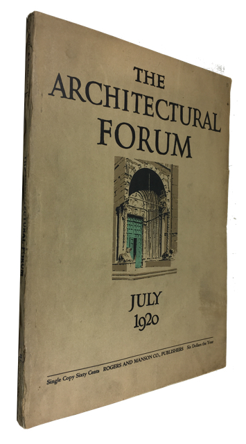 The Architectural Forum, Volume XXXIII, Number 1, (July, 1920)
