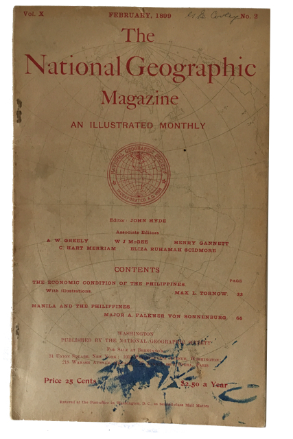 The National Geographic Magazine, Vol. X, No. 2 (February, 1899).