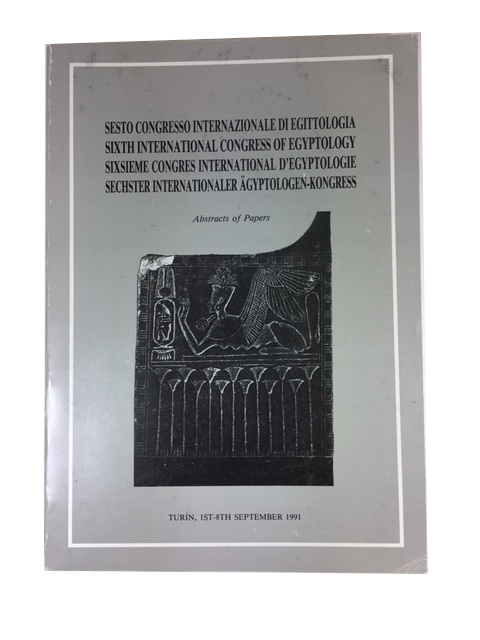 Sesto Congresso Internazionale di Egittologia ... Abstracts of papers. International Congress of Egyptology, Italy 6th: 1991: Turin.