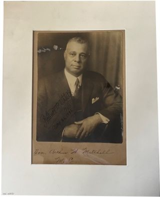 Signed Photograph and Other Material. Arthur Wergs Mitchell