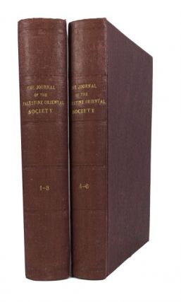 The Journal of the Palestine Oriental Society. Volumes 1-6 (1920-1926)