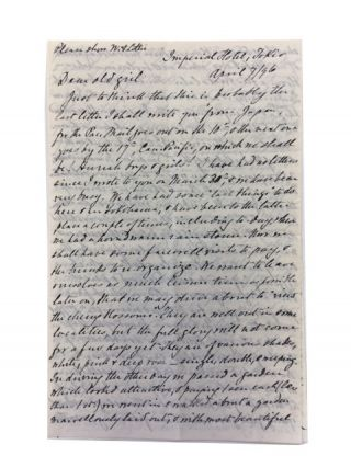 Five Autograph Letters sent to a grown daughter in Massachusetts by an Unidentified American...