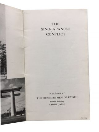 The Sino-Japanese Conflict