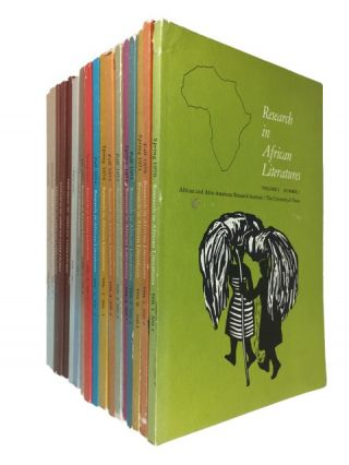 Research in African Literatures. 34 issues