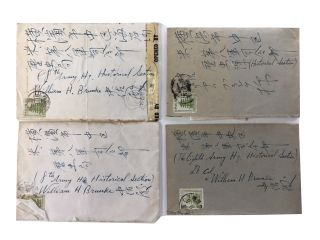 Four Autograph Letters, signed, to Lt. Col. William H. Brunke. Lt. General Jiro Harada.