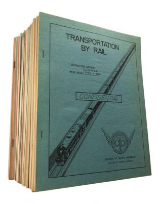 Transportation by Rail: Condition Report.; 31 Consecutive reports from Week ended April 5, 1943...