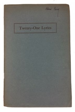 Twenty-One Lyrics
