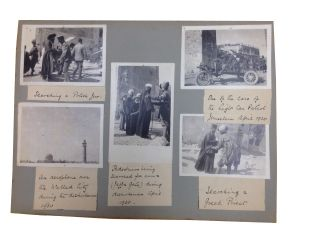 Photos of Palestine in 1920 on 4 Leaves from an Album Compiled by W. E. H. Condon. [our title]....