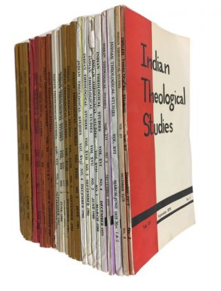 Indian Theological Studies, 27 issues of this quarterly Catholic periodical dated between 1978...