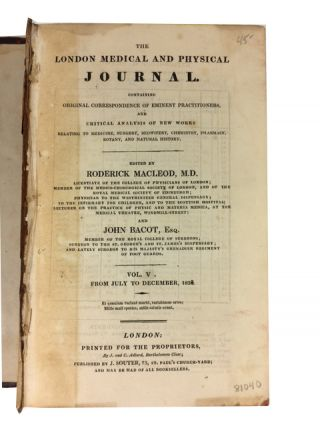 London Medical and Physical Journal. New Series Vol. V (July-Dec 1828)