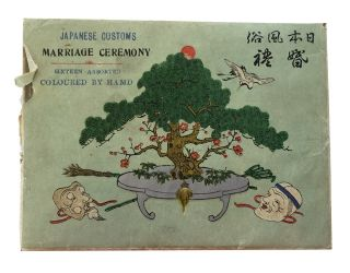 Japanese Customs. Marriage Ceremony. Sixteen Assorted. Coloured by Hand [title on envelope