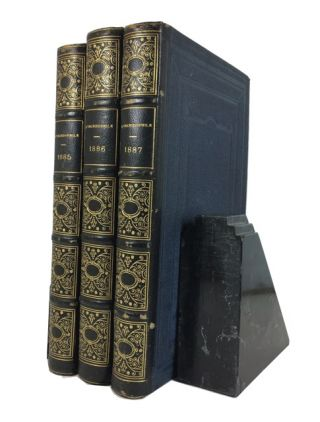 L'Orchidophile:Journal des Amateurs d'Orchidees. Three bound volumes for 1885, 1886 and 1887