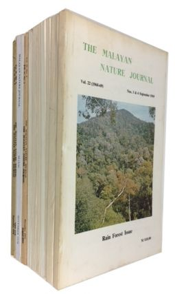 The Malayan Nature Journal. 13 issues dated between 1968 and 1978