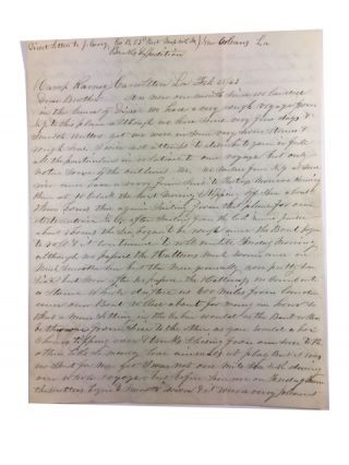 Civil War Soldier's Letter Dated February 28, 1863 and sent from New Orleans to His Brother back in Massachusetts. Jonas Corey.