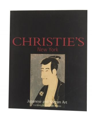 Japanese and Korean Art, Tuesday, 19 September 2000. Christie's