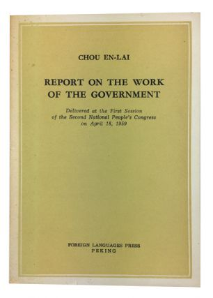 Report on the Work of the Government: Delivered at the First Session of the Second National...