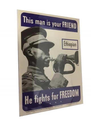 This man is your FRIEND: Ethiopian; He fights for FREEDOM