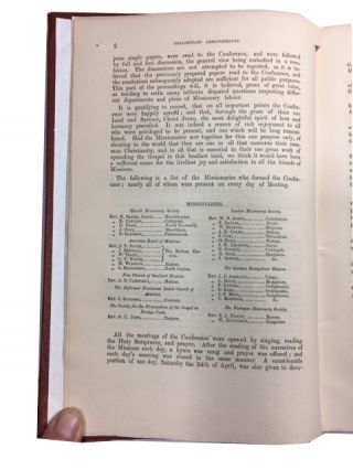 Proceedings of the South-India Missionary Conference, Held at Ootacamund, April 19th - May 5th 1858.