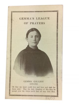 Gemma's League: An Association of Prayer for the Passionist Chinese Missions. [caption title