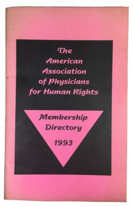 Membership Directory 1993. American Association of Physicians for Human Rights, AAPHR